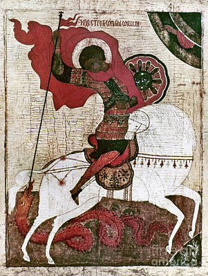 Russian Icon Photograph - Saint George by Granger