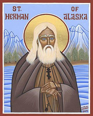 Greek Icon Painting - Saint Herman Of Alaska by Michael Courey