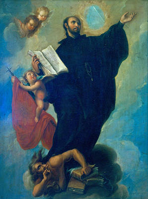 Miguel Cabrera Painting - Saint Ignatius Loyola by Miguel Cabrera