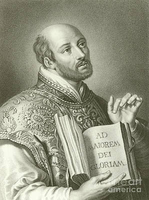 Saint Ignatius Of Loyola Print by English School