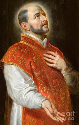 Devotional Painting - Saint Ignatius by Peter Paul Rubens