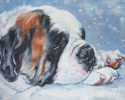 Saint In The Snow Print by Lee Ann Shepard