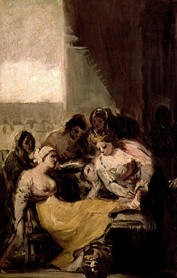 Portugal Art Painting - Saint Isabel Of Portugal Healing The Wounds Of A Sick Woman by Francisco Goya