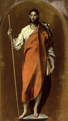 Cloak Painting - Saint James The Greater by El Greco