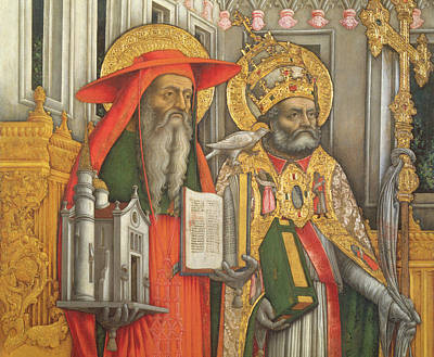 Saint Jerome And Saint Gregory Print by Antonio Vivarini