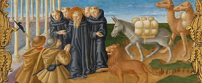Zanobi Machiavelli Painting - Saint Jerome And The Donkey by Zanobi Machiavelli