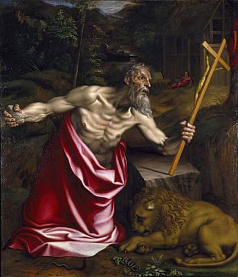 Antonio Campi Painting - Saint Jerome by Antonio Campi
