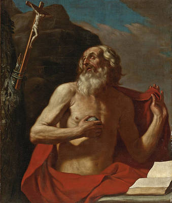 Painting - Saint Jerome by Guercino