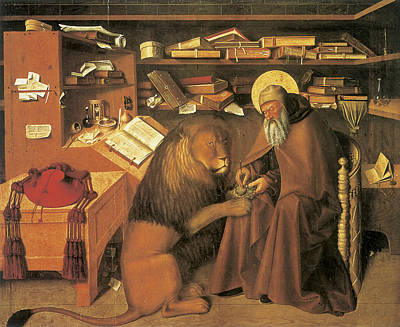 Jerome Painting - Saint Jerome In His Study by Colantonio