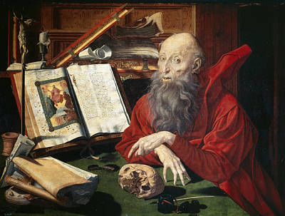 Reymerswaele Painting - Saint Jerome by Marinus van Reymerswaele