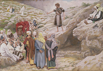 Saint John The Baptist And The Pharisees Print by Tissot