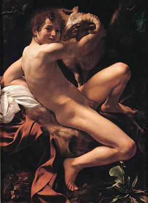 Caravaggio Painting - Saint John The Baptist by Caravaggio