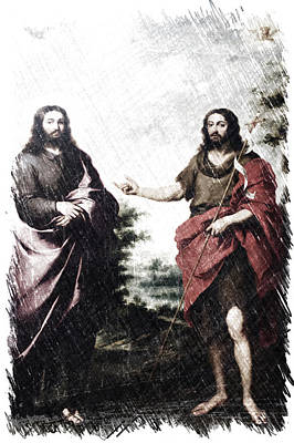 Saint John The Baptist Pointing To Christ Chicago Art Institute Pa 01 Print by Thomas Woolworth