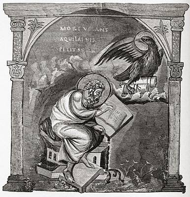 Bible Drawing - Saint John The Evangelist. From The by Vintage Design Pics