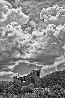 Saint Joseph Apache Mission, Mescalero, New Mexico, June 10, 201 Print by Mark Goebel