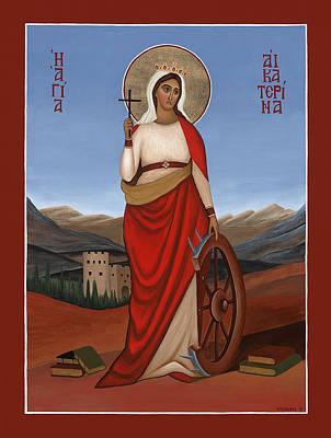 Greek Icon Painting - Saint Katherine by Michael Courey