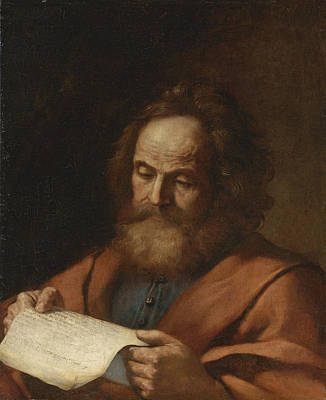 Painting - Saint Luke by Guercino