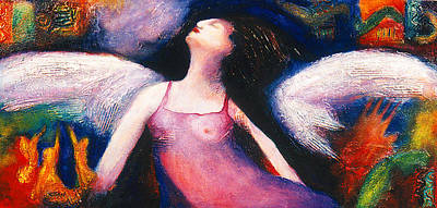Female Mixed Media - Saint Marcela by Claudia Fuenzalida Johns