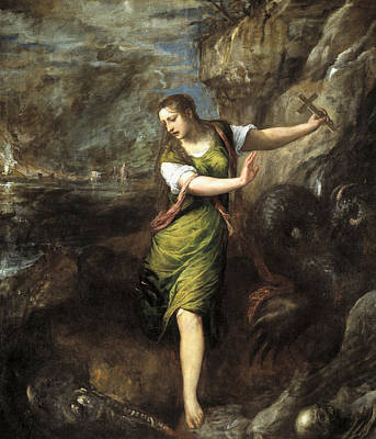 16th Century Painting - Saint Margaret  by Titian