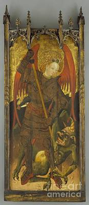 Dragon Painting - Saint Michael Fighting The Dragon by Celestial Images