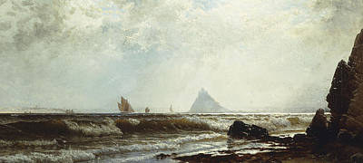 Sailing Ship On Ocean Painting - Saint Michael's Mount by Alfred Thompson Bricher