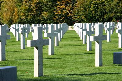 Print featuring the photograph Saint Mihiel American Cemetery by Travel Pics