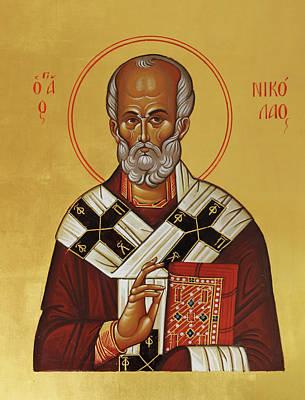 Byzantine Painting - Saint Nicholas by Alyona Pastuhova