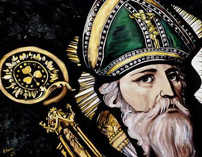 Saint Patrick Print by Leeann Stumpf