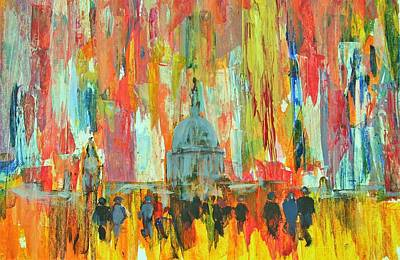 Catherdral Painting - Saint Pauls by Mary Livingstone