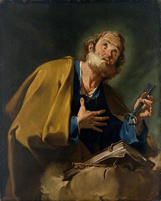 Saint Peter Print by Giovanni Battista Pittoni