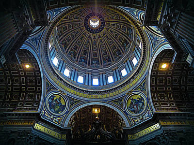 Architecture Photograph - Saint Peter's Basilica And Dome by Wall Art Prints