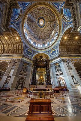 Ornate Photograph - Saint Peter's Grandeur by Inge Johnsson