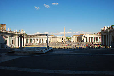 Rome Photograph - Saint Peter's Square - Vatican City Italy by Just Eclectic