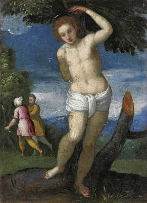 Giovanni Francesco Caroto Painting - Saint Sebastian by Giovanni Francesco Caroto
