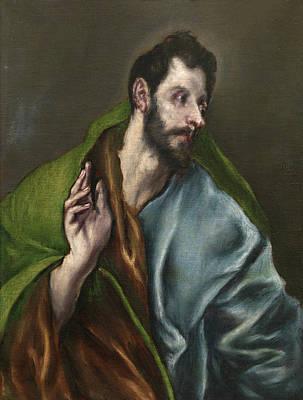 Doubting Painting - Saint Thomas by El Greco