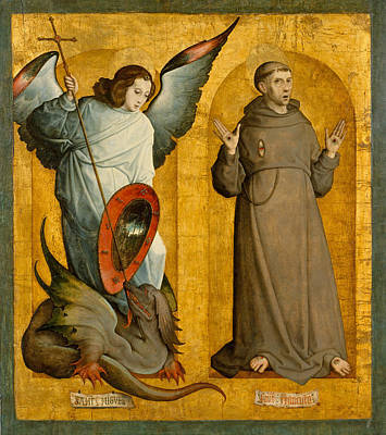 Juan De Flandes Painting - Saints Michael And Francis by Juan de Flandes
