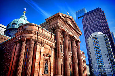 Saints Peter And Paul In Philadelphia   Print by Olivier Le Queinec