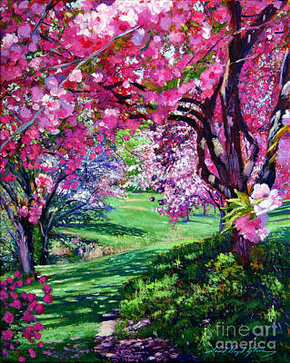 Pink Painting - Sakura Romance by David Lloyd Glover