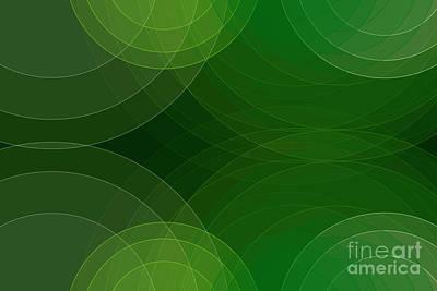 Digital Art - Salad Semi Circle Background Horizontal by Frank Ramspott