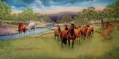 Horse Purse Painting - Salado by Sandy Dusek