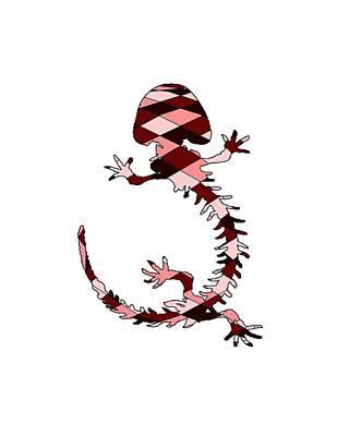 Salamanders Digital Art - Salamander Skeleton by Mordax Furittus