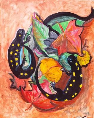 Salamanders Original by Joanne Fenton