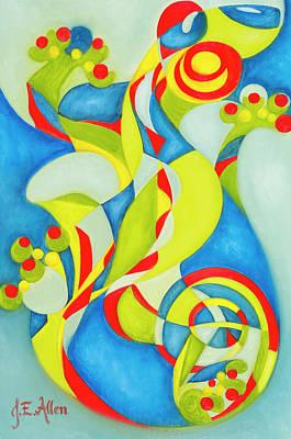Salamanders Painting - Salamanquesa by Joseph Edward Allen