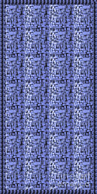Handcrafted Mixed Media - Sale Fineart Sparkle Blue Hand Crafted Glass Tiles By Navinjoshi At Fineartamerica.com Shower Curtai by Navin Joshi