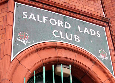 Morrissey Photograph - Salford Lads Club by Colin Shorrock