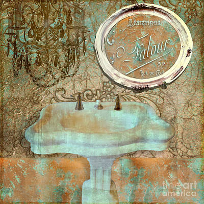 Salle De Bain II Print by Mindy Sommers