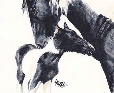 Pinto Painting - Sally And Maya by Leonie Bell