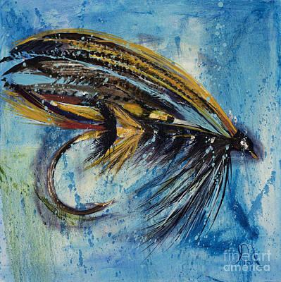 Salmon Fly King Print by Jodi Monahan