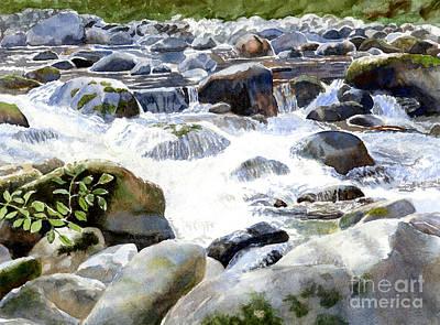 Salmon River Falls And Rocks Original by Sharon Freeman