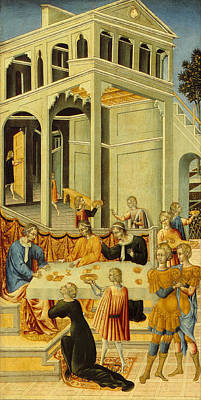Giovanni Di Paolo Painting - Salome Asking Herod For The Head Of Saint John The Baptist by Giovanni di Paolo